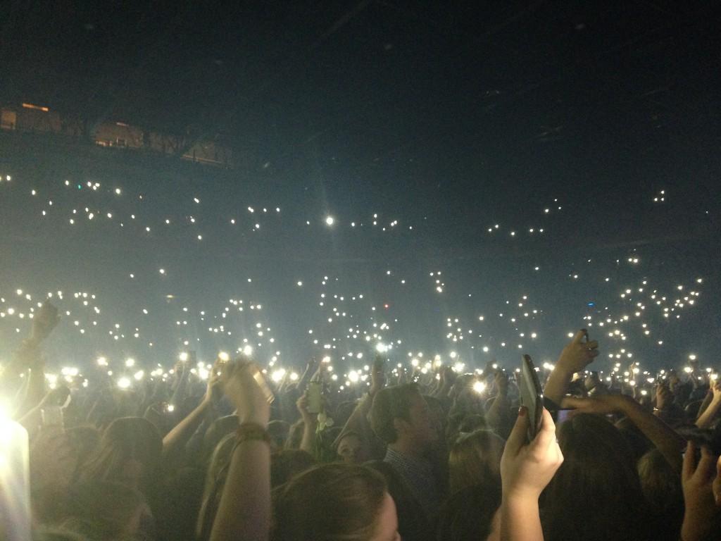 Ed Sheerans konsert i Bryssel 04/11/2014.